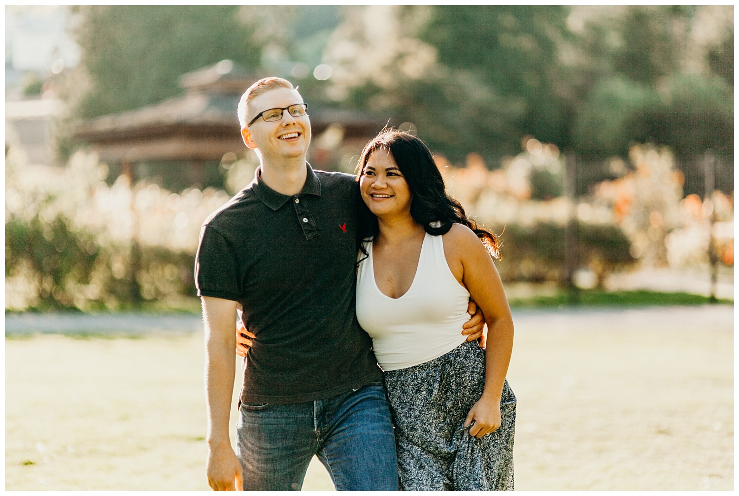 Jaynah and Kevin Point Defiance Rose Garden Owen Beach Tacoma Washington Engagement Session (13).jpg