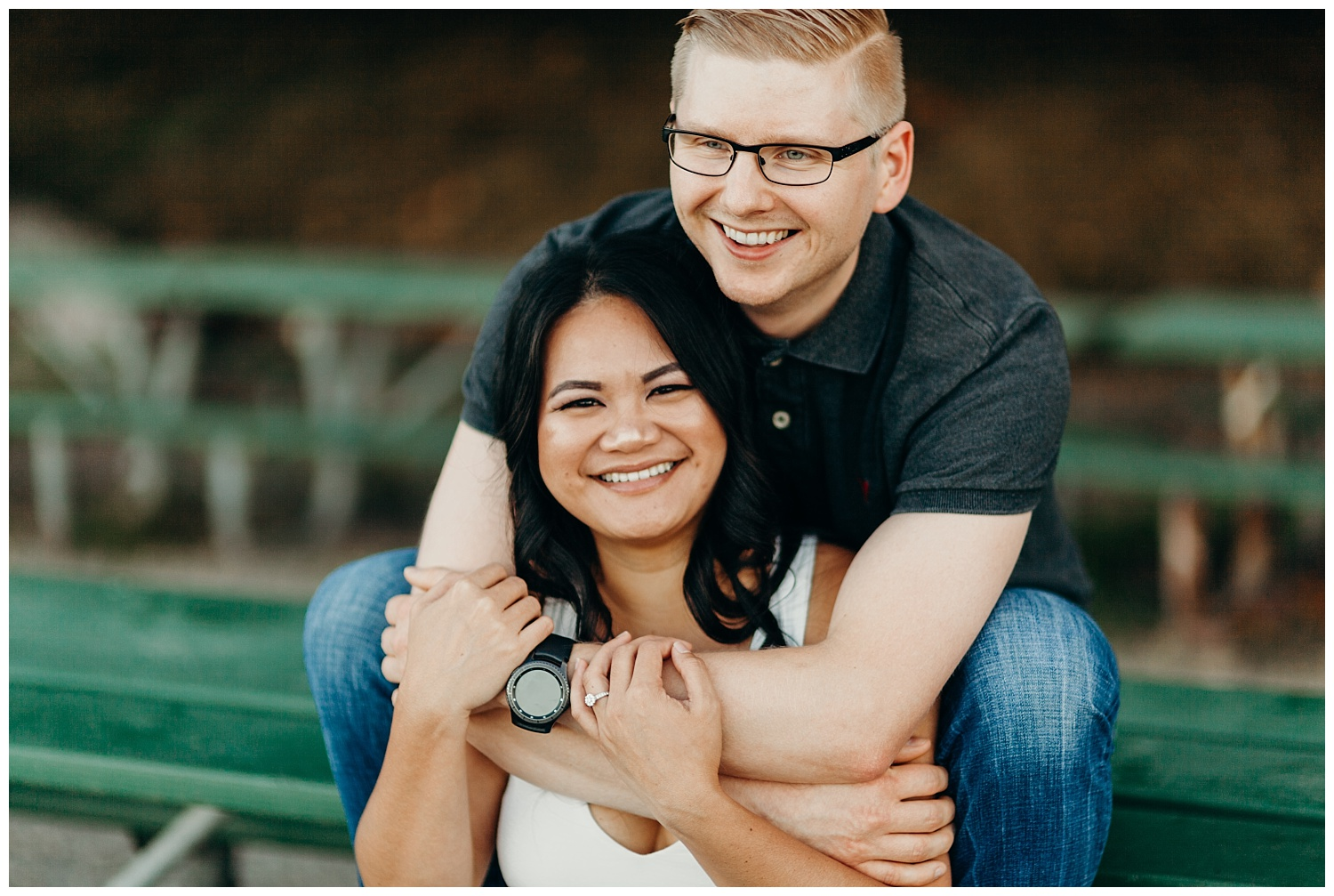Jaynah and Kevin Point Defiance Rose Garden Owen Beach Tacoma Washington Engagement Session (22).jpg