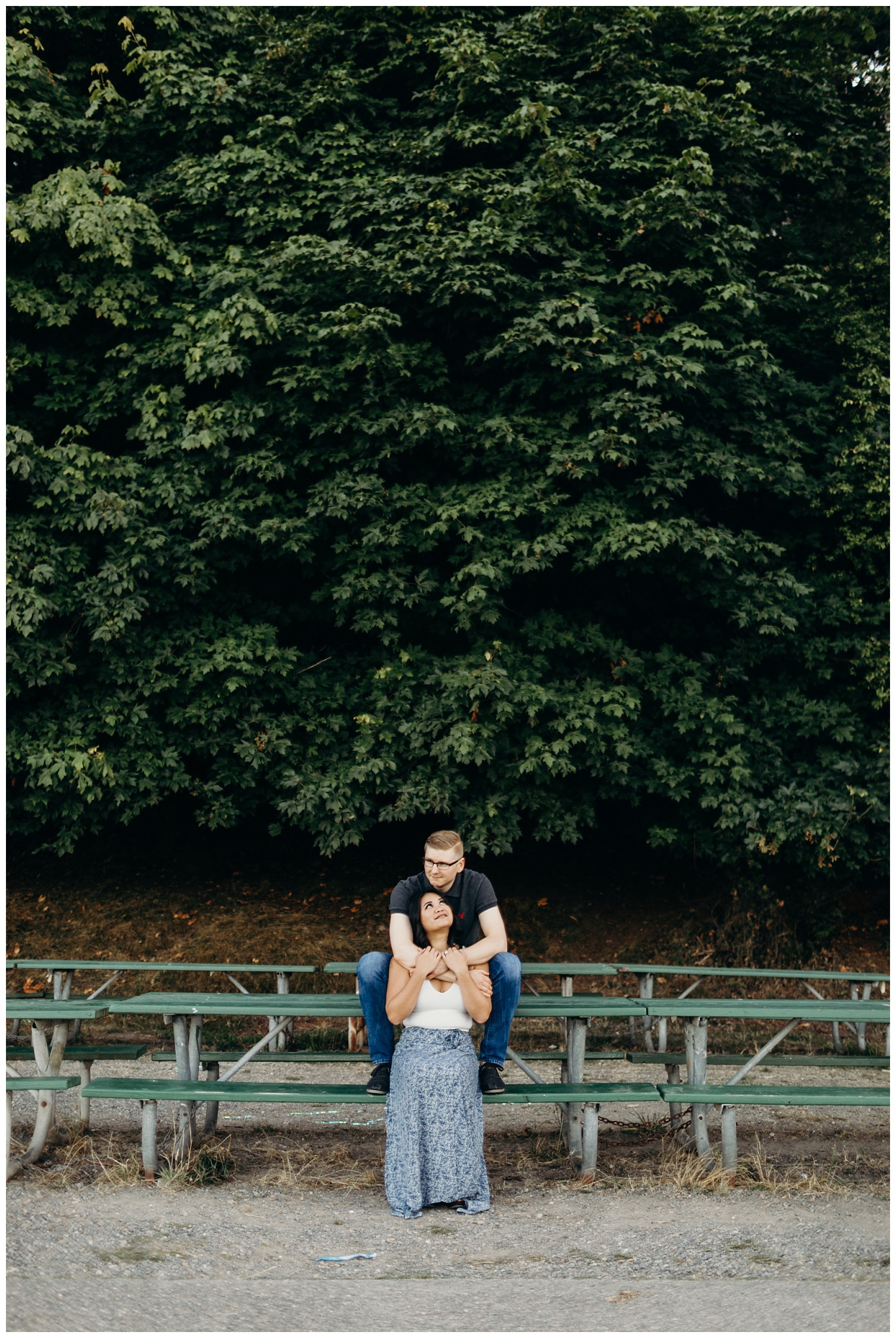 Jaynah and Kevin Point Defiance Rose Garden Owen Beach Tacoma Washington Engagement Session (21).jpg
