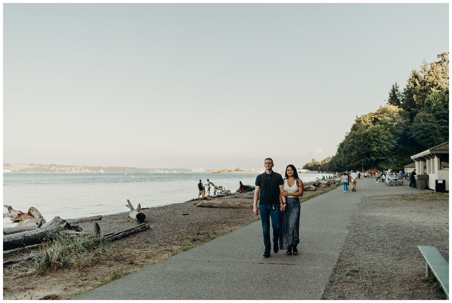 Jaynah and Kevin Point Defiance Rose Garden Owen Beach Tacoma Washington Engagement Session (24).jpg