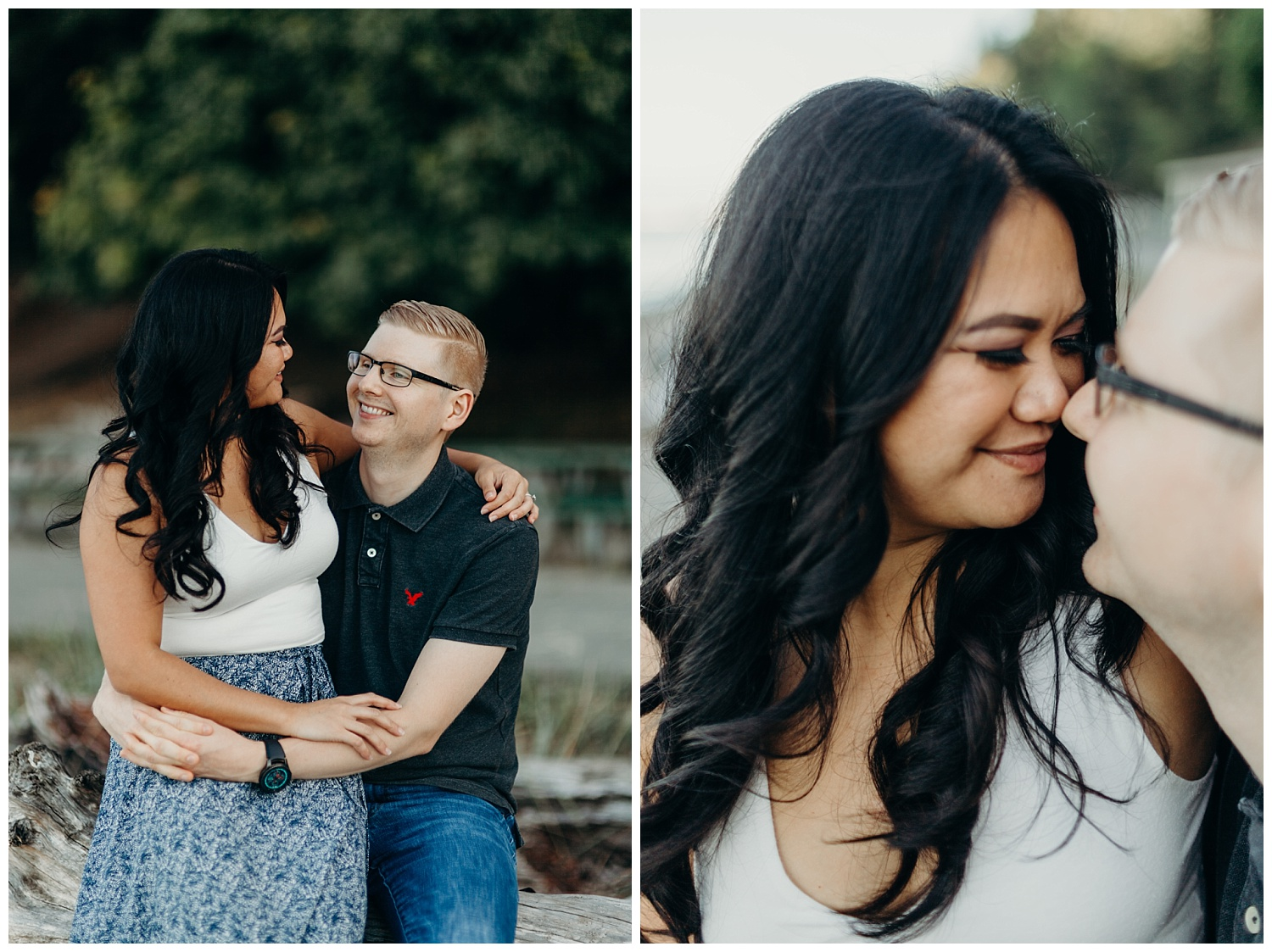 Jaynah and Kevin Point Defiance Rose Garden Owen Beach Tacoma Washington Engagement Session (26).jpg