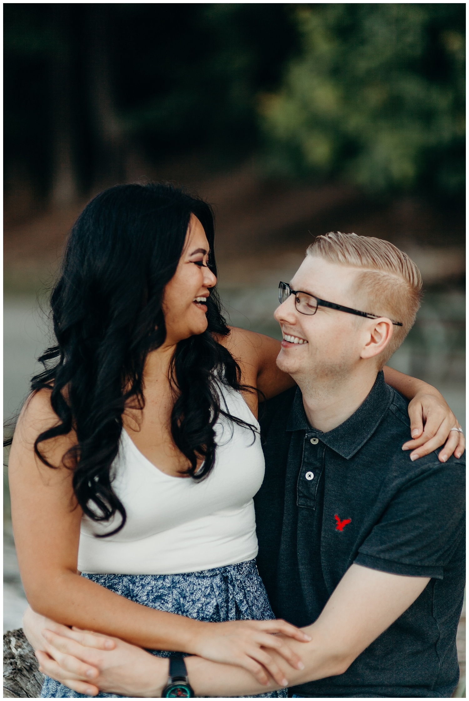 Jaynah and Kevin Point Defiance Rose Garden Owen Beach Tacoma Washington Engagement Session (27).jpg