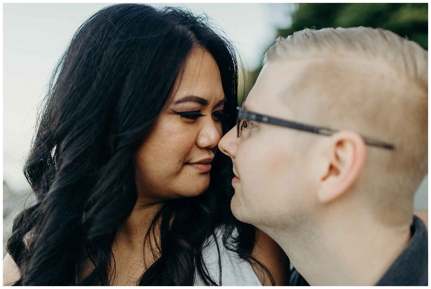 Jaynah and Kevin Point Defiance Rose Garden Owen Beach Tacoma Washington Engagement Session (28).jpg