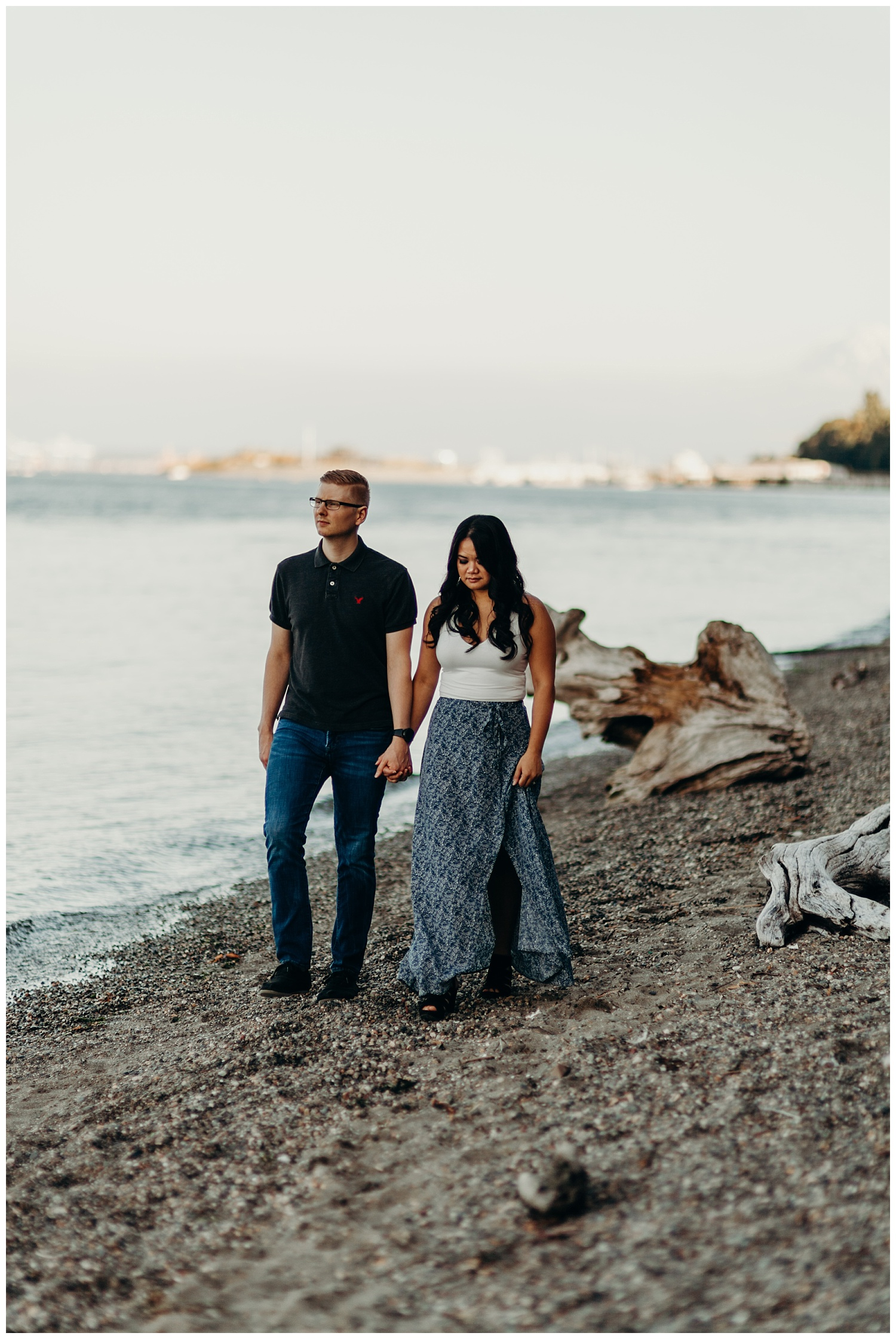Jaynah and Kevin Point Defiance Rose Garden Owen Beach Tacoma Washington Engagement Session (29).jpg