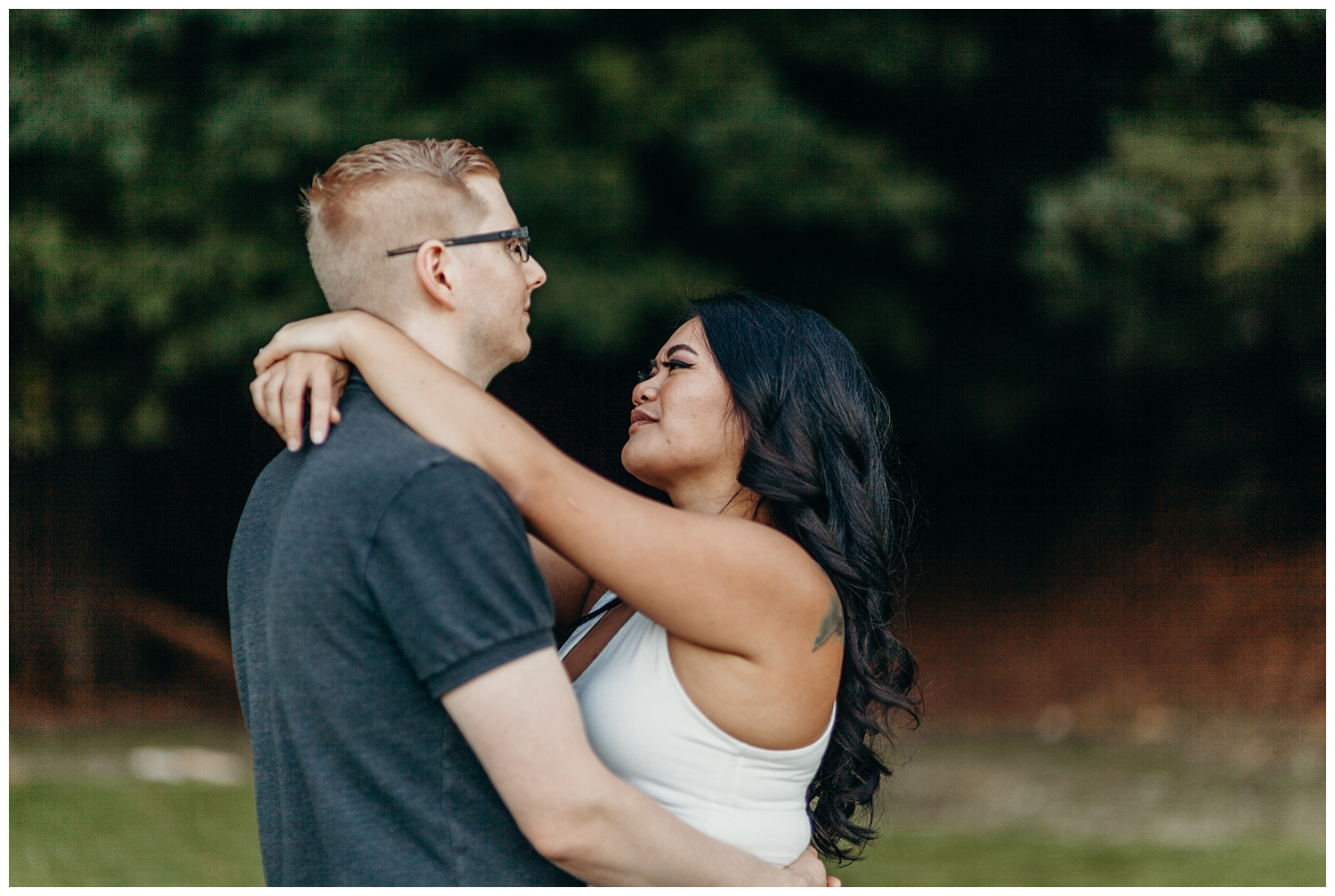 Jaynah and Kevin Point Defiance Rose Garden Owen Beach Tacoma Washington Engagement Session (38).jpg