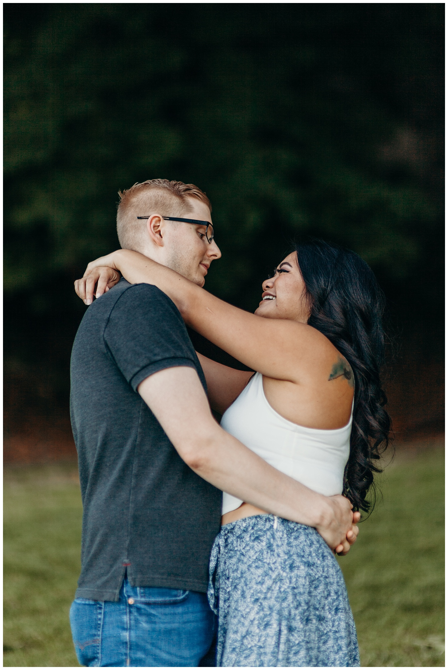 Jaynah and Kevin Point Defiance Rose Garden Owen Beach Tacoma Washington Engagement Session (37).jpg