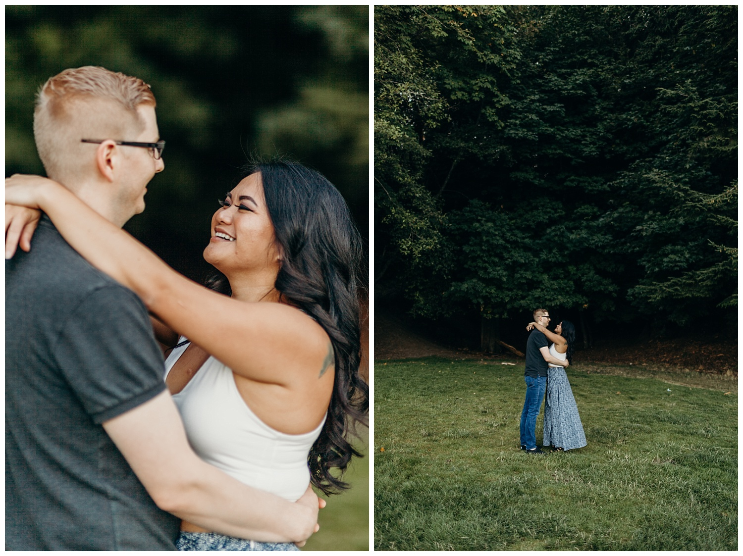 Jaynah and Kevin Point Defiance Rose Garden Owen Beach Tacoma Washington Engagement Session (39).jpg