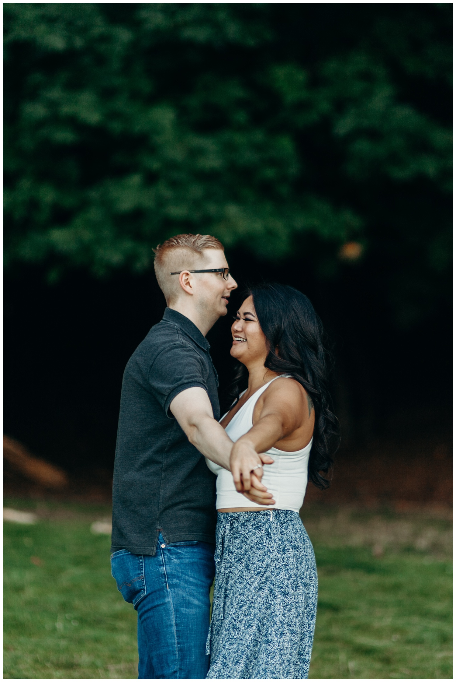 Jaynah and Kevin Point Defiance Rose Garden Owen Beach Tacoma Washington Engagement Session (42).jpg