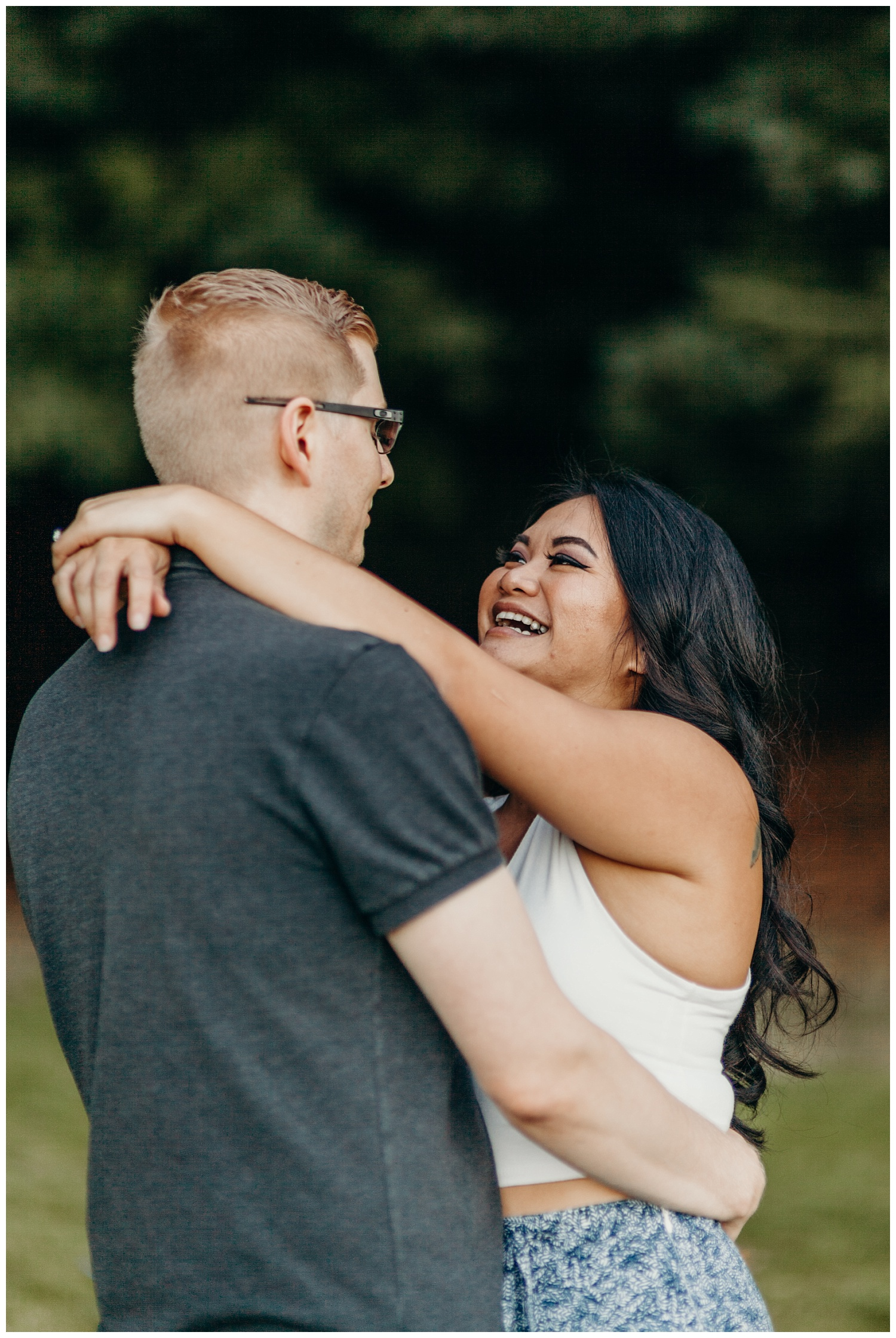 Jaynah and Kevin Point Defiance Rose Garden Owen Beach Tacoma Washington Engagement Session (41).jpg