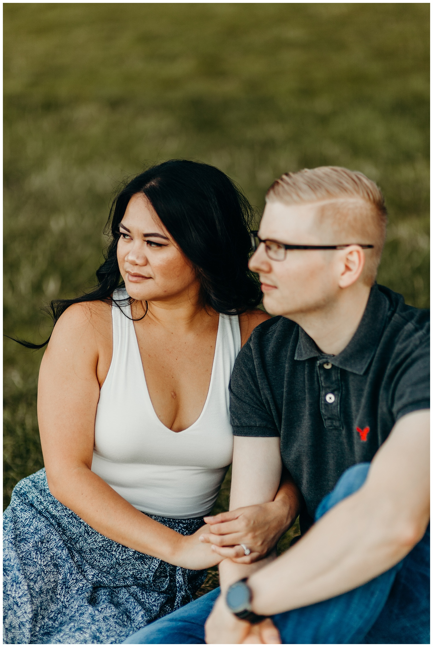 Jaynah and Kevin Point Defiance Rose Garden Owen Beach Tacoma Washington Engagement Session (45).jpg