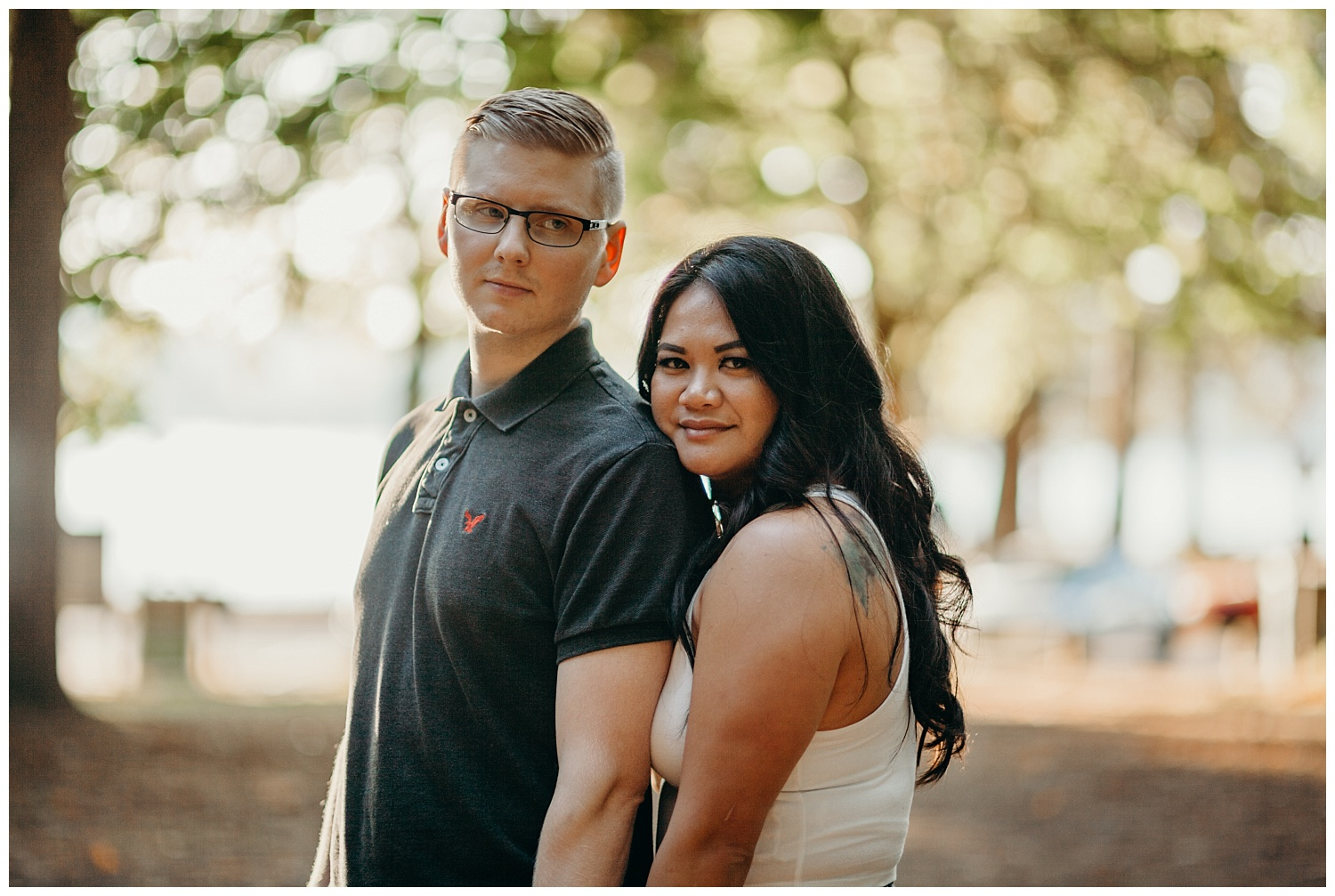 Jaynah and Kevin Point Defiance Rose Garden Owen Beach Tacoma Washington Engagement Session (48).jpg