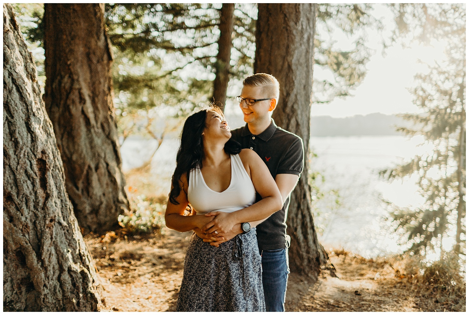 Jaynah and Kevin Point Defiance Rose Garden Owen Beach Tacoma Washington Engagement Session (52).jpg