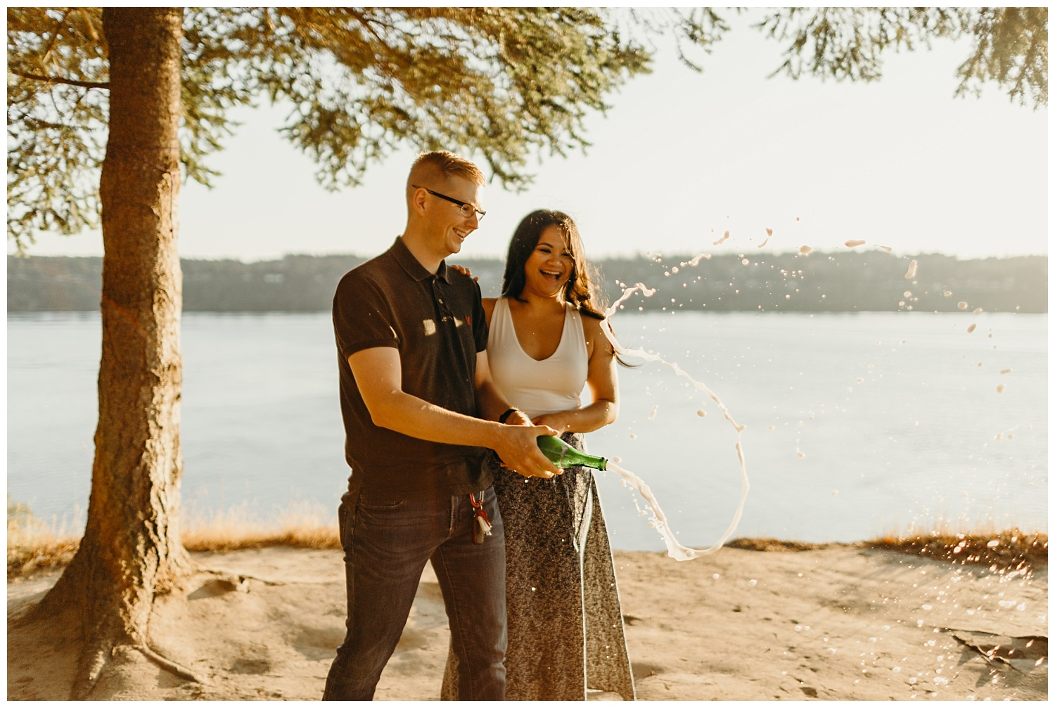 Jaynah and Kevin Point Defiance Rose Garden Owen Beach Tacoma Washington Engagement Session (65).jpg