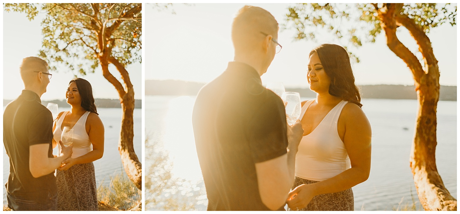 Jaynah and Kevin Point Defiance Rose Garden Owen Beach Tacoma Washington Engagement Session (69).jpg