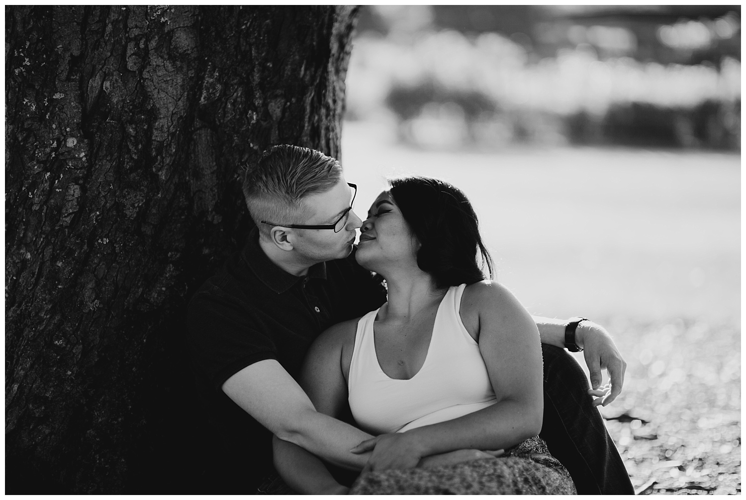 Jaynah and Kevin Point Defiance Rose Garden Owen Beach Tacoma Washington Engagement Session (72).jpg