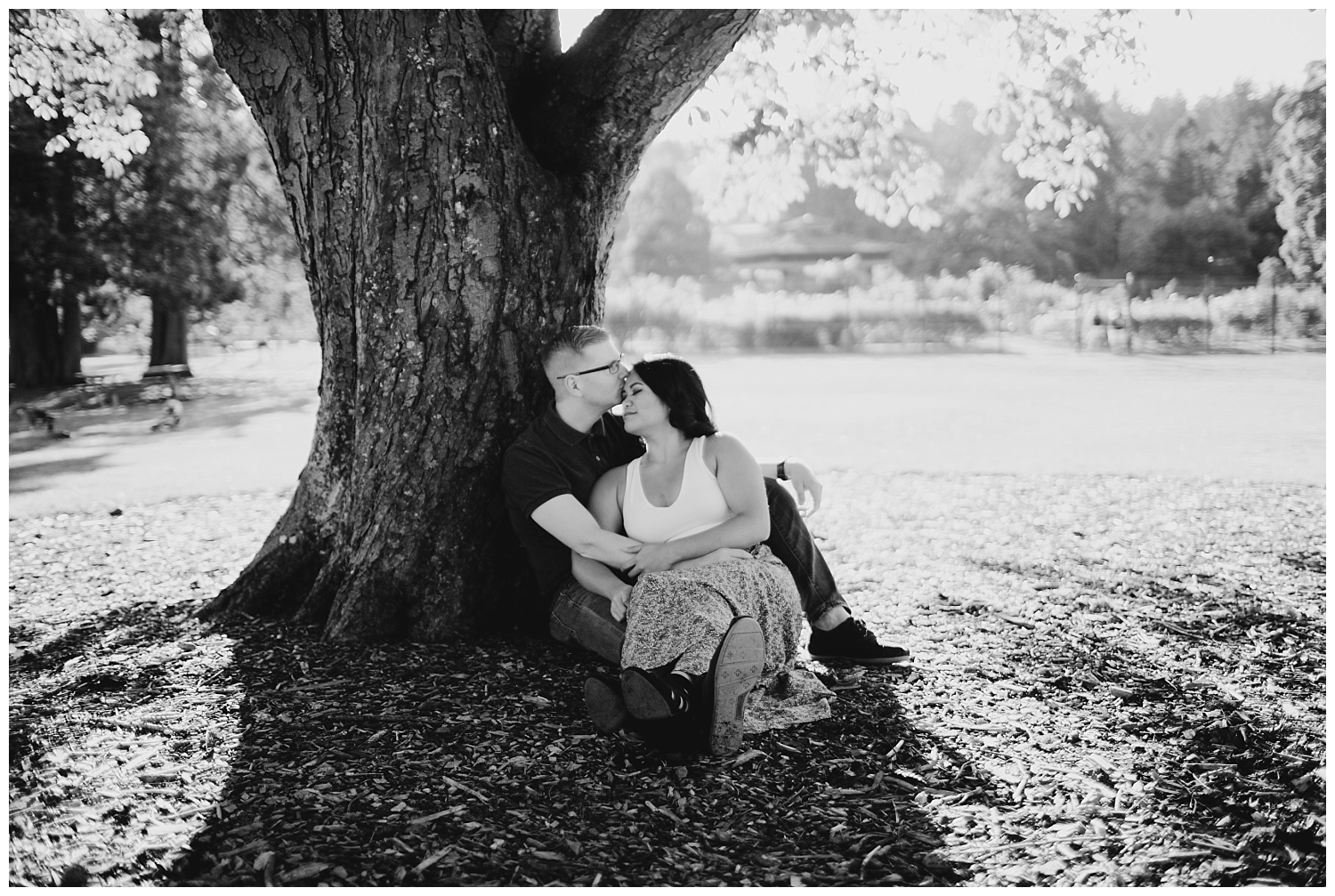 Jaynah and Kevin Point Defiance Rose Garden Owen Beach Tacoma Washington Engagement Session (73).jpg
