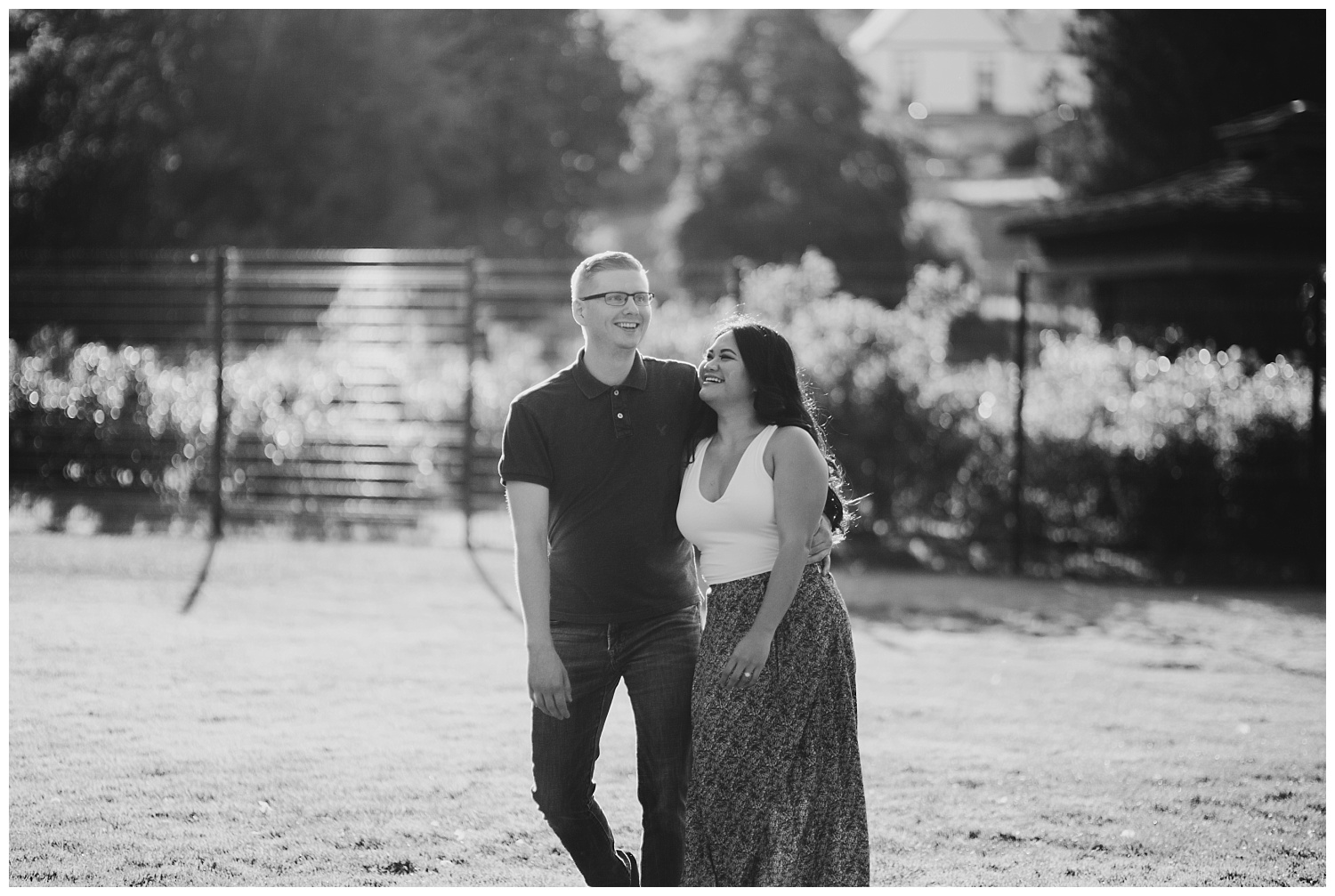 Jaynah and Kevin Point Defiance Rose Garden Owen Beach Tacoma Washington Engagement Session (75).jpg