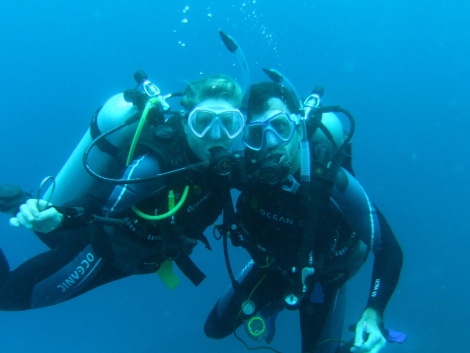 Tanja & Fred on our last dive – come back soon!