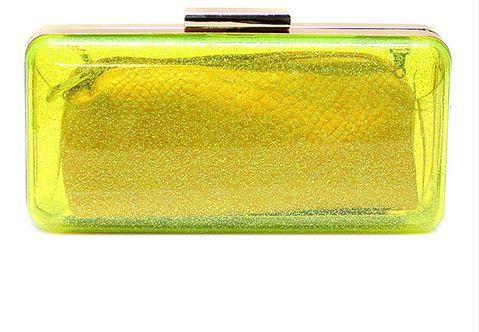 Yellow box clutch - Bellucci Collection Handbags.JPG