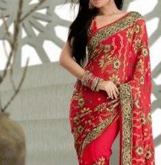 red sarees Bollywood Fashion.JPG