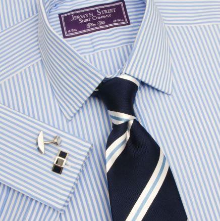 Azure blue mens classic fit shirt - Jermyn Street.JPG