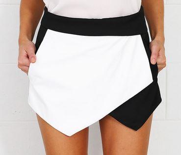 skort black and white - Beginning Boutique.JPG