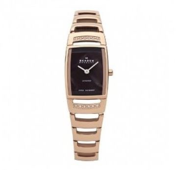 skagen gold ladies watch at Watches and jewellery.JPG
