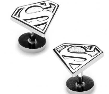 silver superman cufflinks.JPG