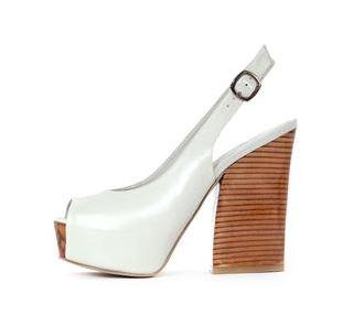 Tina White Heels at Babi Bello.JPG