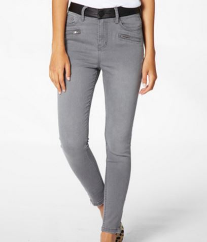 Glassons leather look waistband jeans.JPG