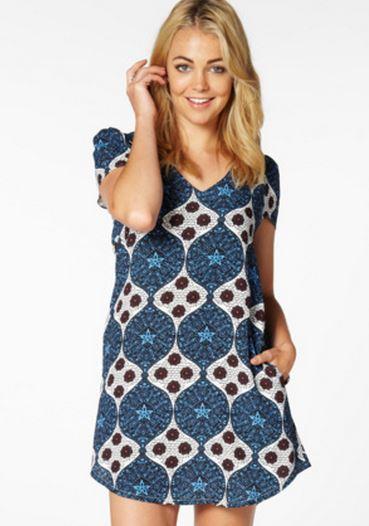 Multi print crepe dress at Glassons.JPG