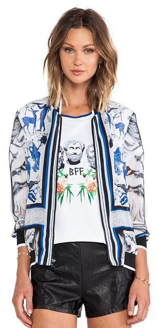 clover canyon marble party chiffon bomber jacket.JPG