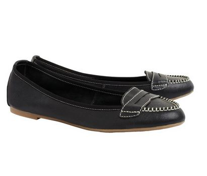 josie black plain leather loafers.JPG