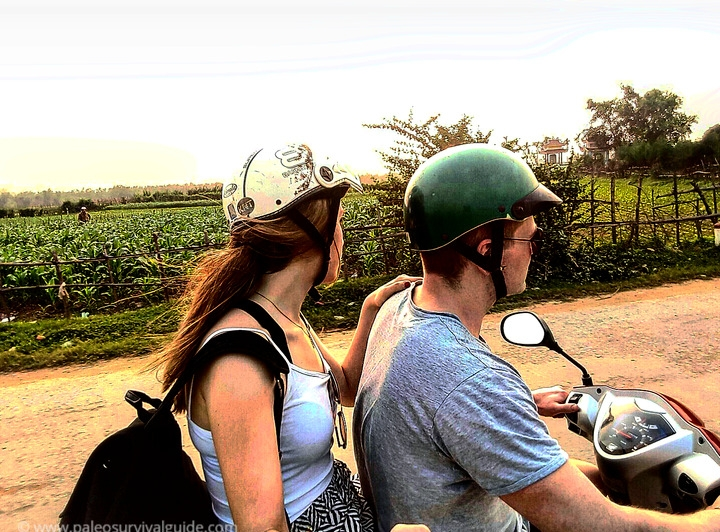 Motorbiking in the coutryside