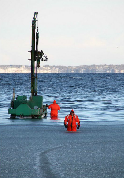 Jordbundsundersøgelser ved Handbjerg Marina. Foto: Yesterdaysfoto.dk