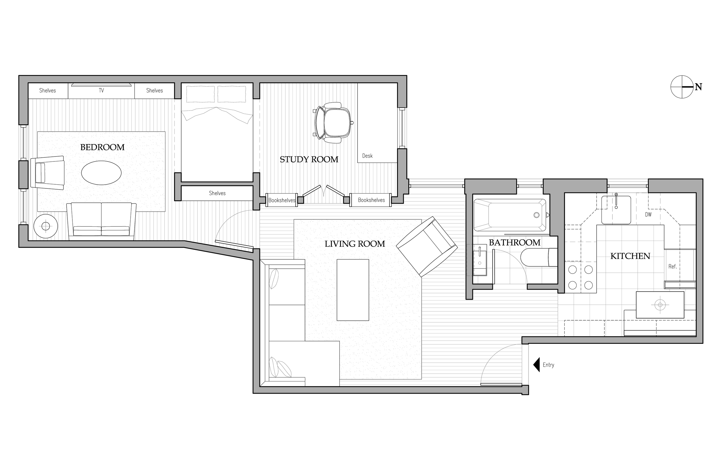 INTERIOR ARCHITECTURE: TWO BEDROOM RETIREMENT RESIDENCE