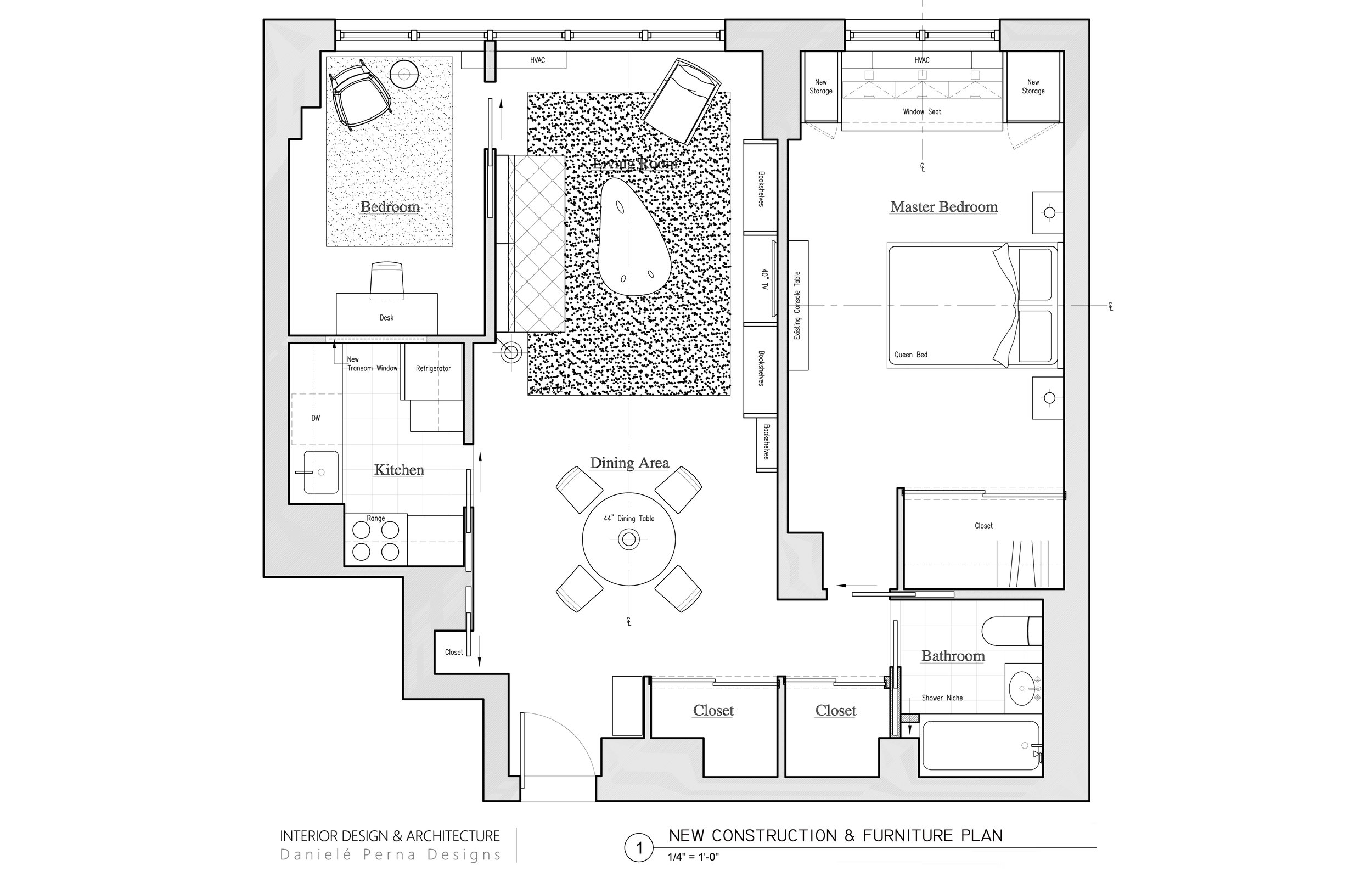 INTERIOR ARCHITECTURE: TWO BEDROOM RESIDENCE