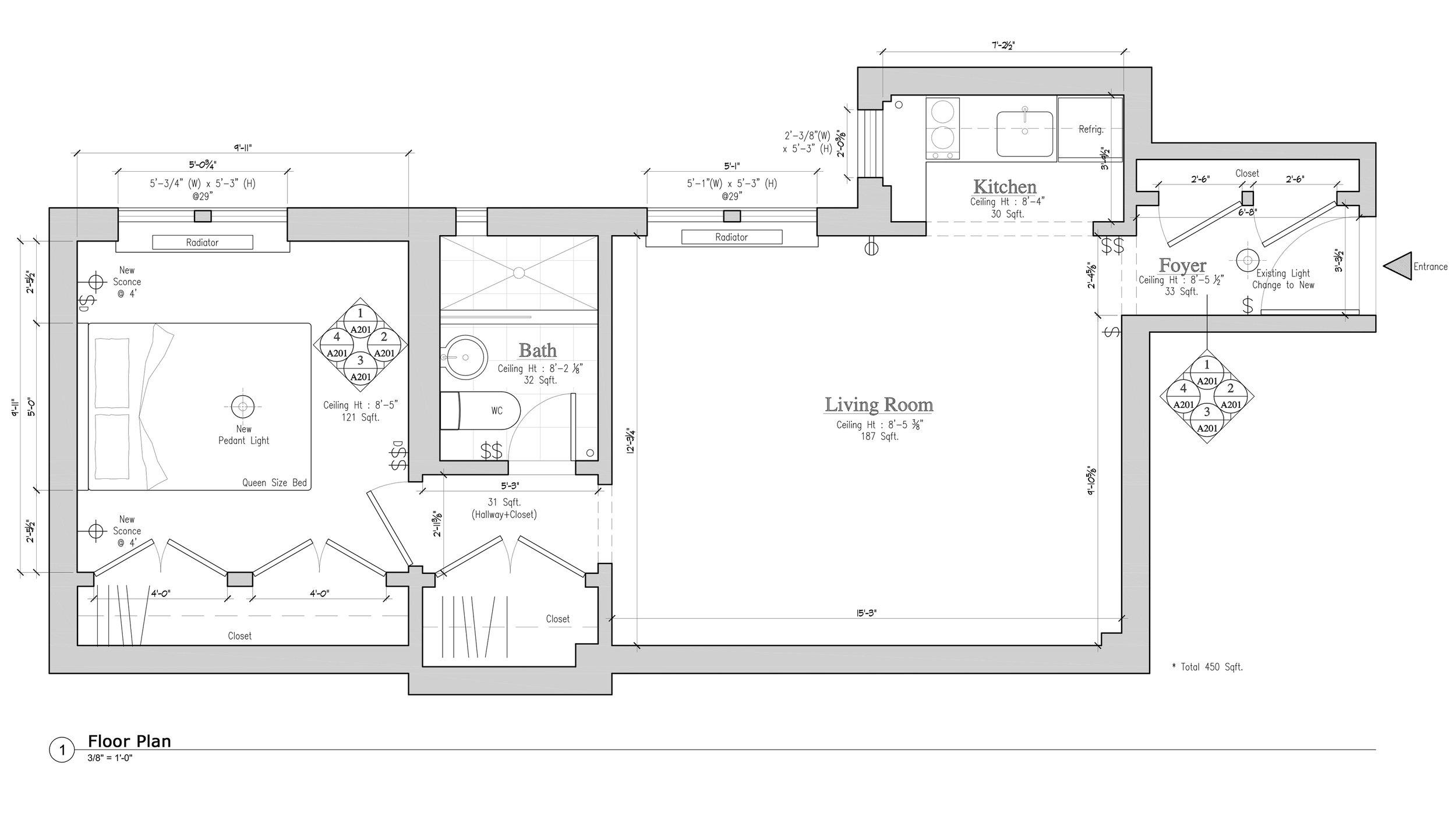 INTERIOR DESIGN: ONE BEDROOM EFFICIENCY RESIDENCE