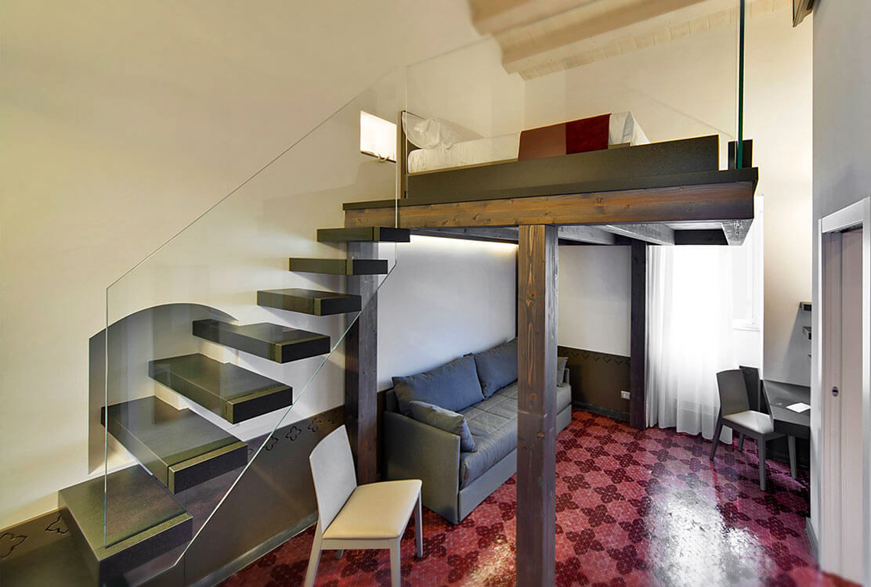 INTERIOR DESIGN & ARCHITECTURE LOFT BED & ZELLIJ TILE