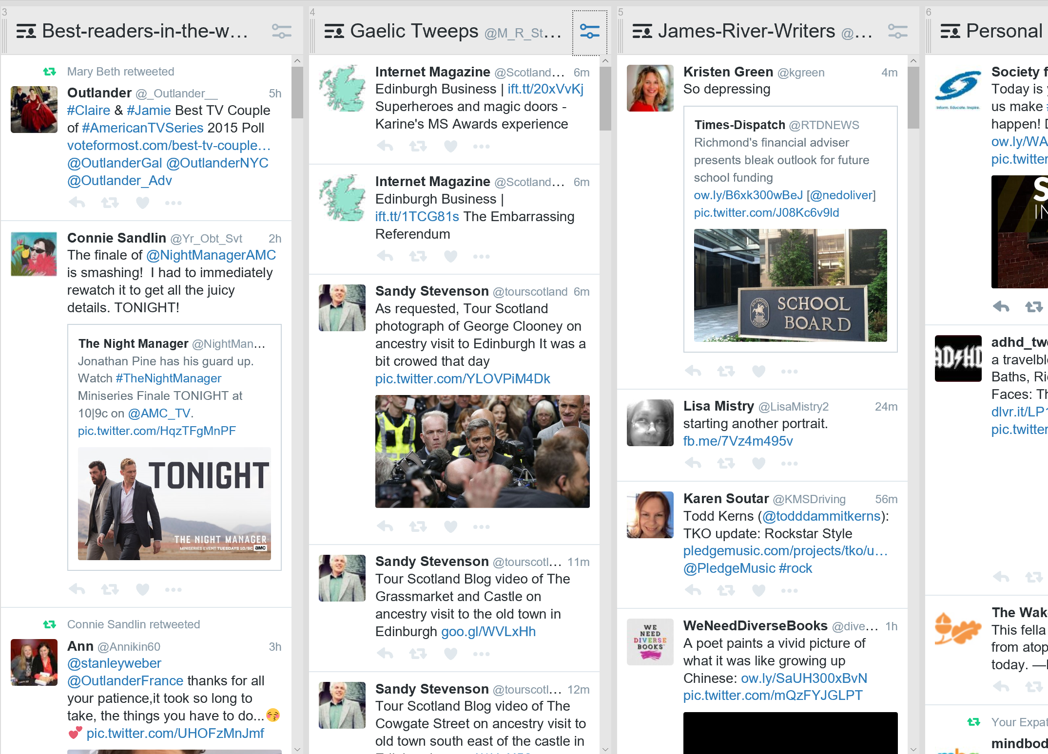 Tweetdeck lets you create columns with your lists to streamline your feed by topic.