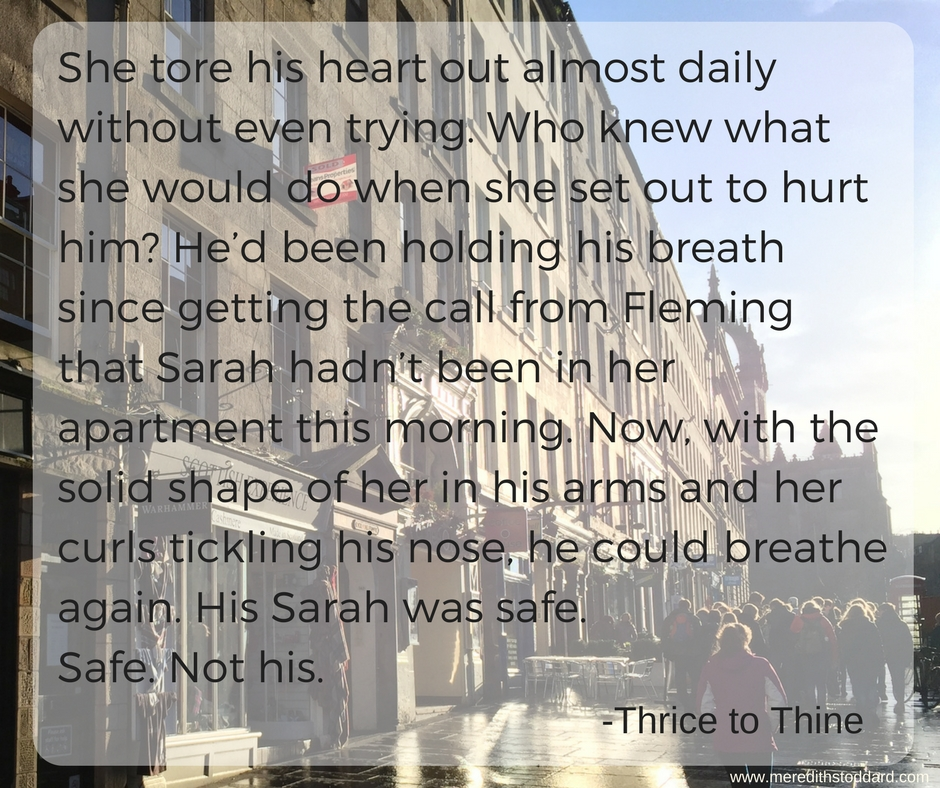 She tore his heart out almost daily without even trying. Who knew what she would do when she set out to hurt him- He'd been holding his breath since getting the call from Fleming that Sarah hadn't been in her apartme.jpg
