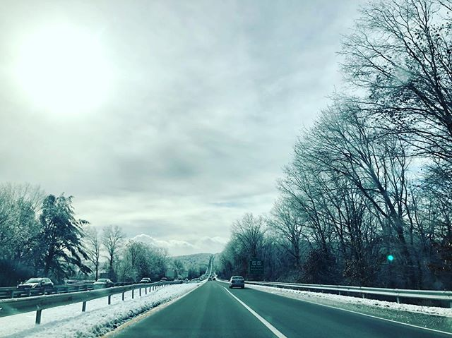 For about 30 miles through the state of Connecticut, yesterday's storm had left the landscape encased in sparkling ice.
