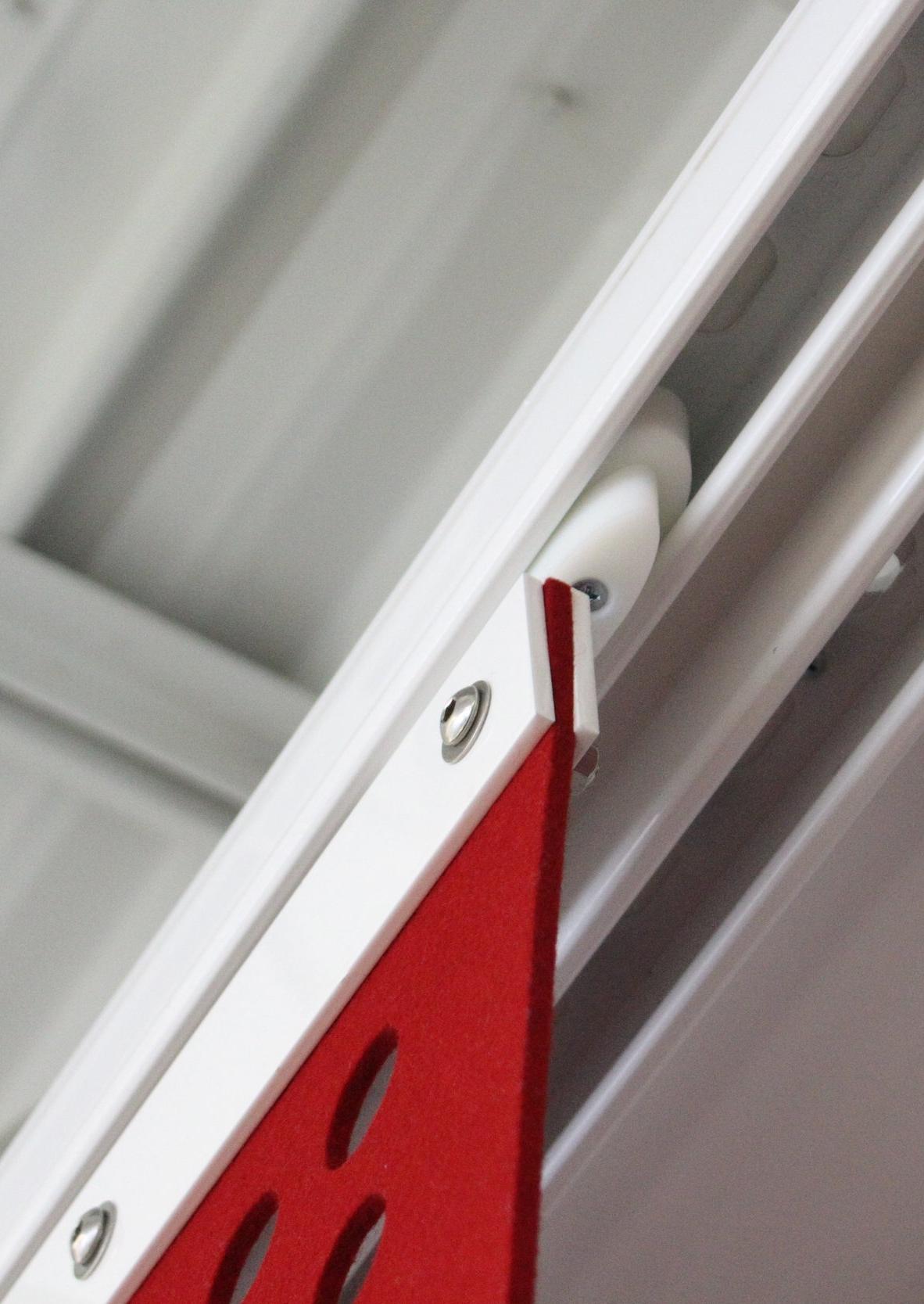 Red Arrow Room Panel Custom Track Glider