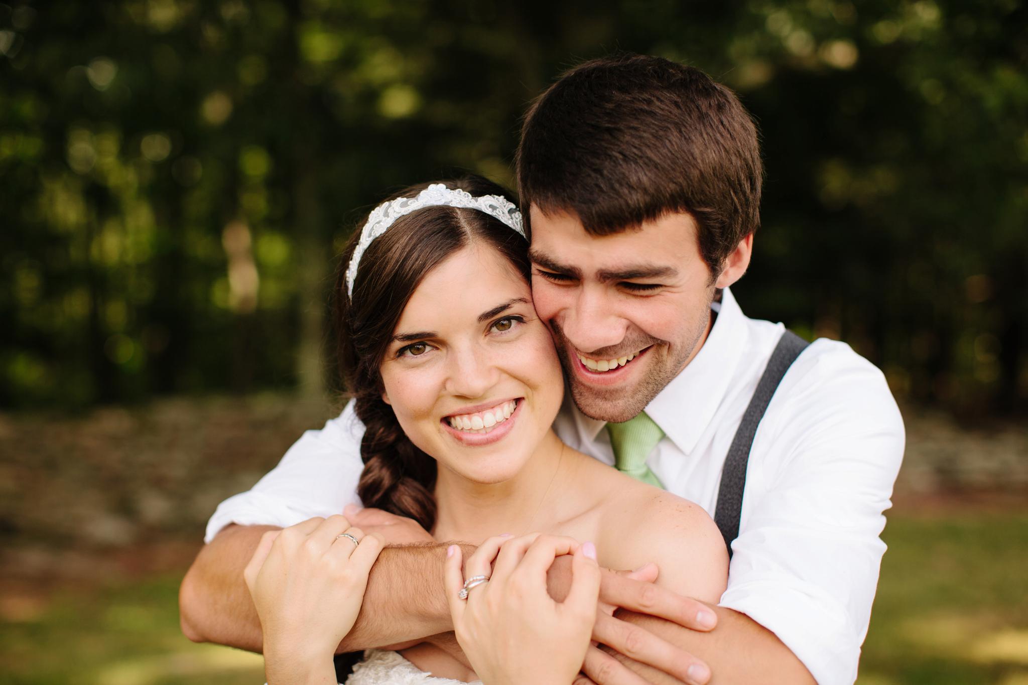 Groom Hugging Bride at Lackawanna State Park Wedding Photos Backyard Wedding DIY Ideas Scranton PA Wedding Photographer