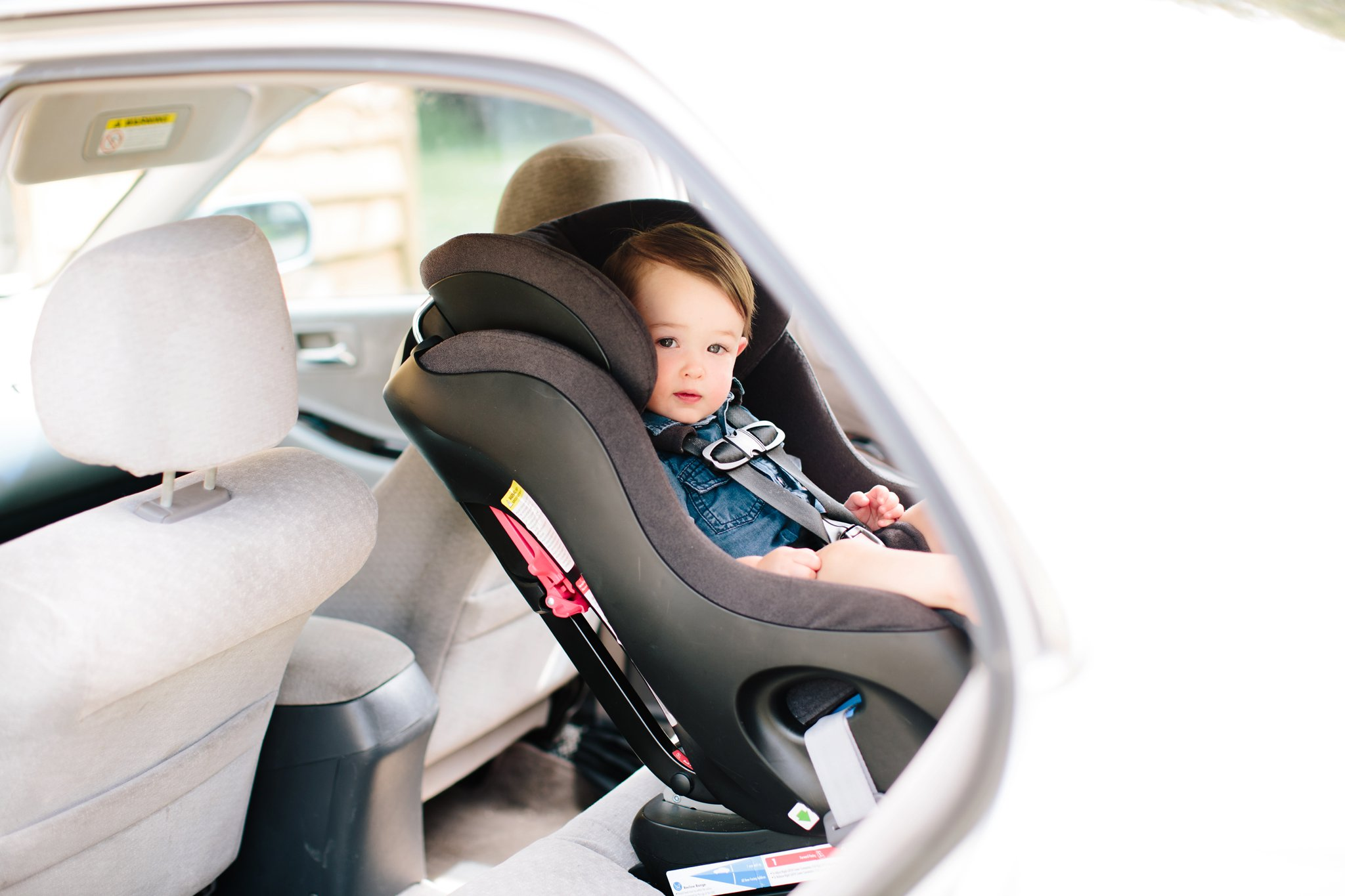 Rear-facing at sixteen months in a Clek Foonf.