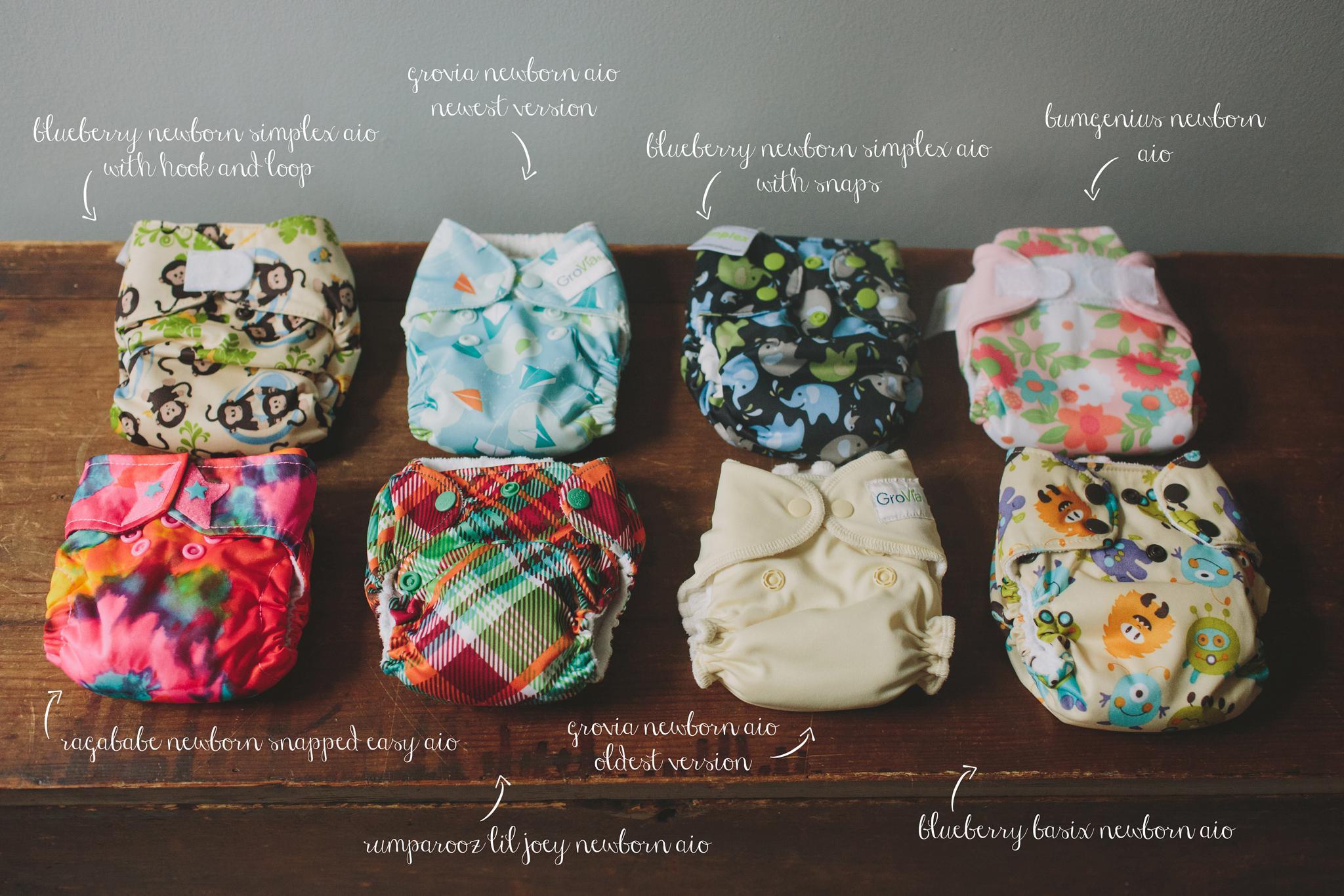 Newborn All In One Cloth Diapers