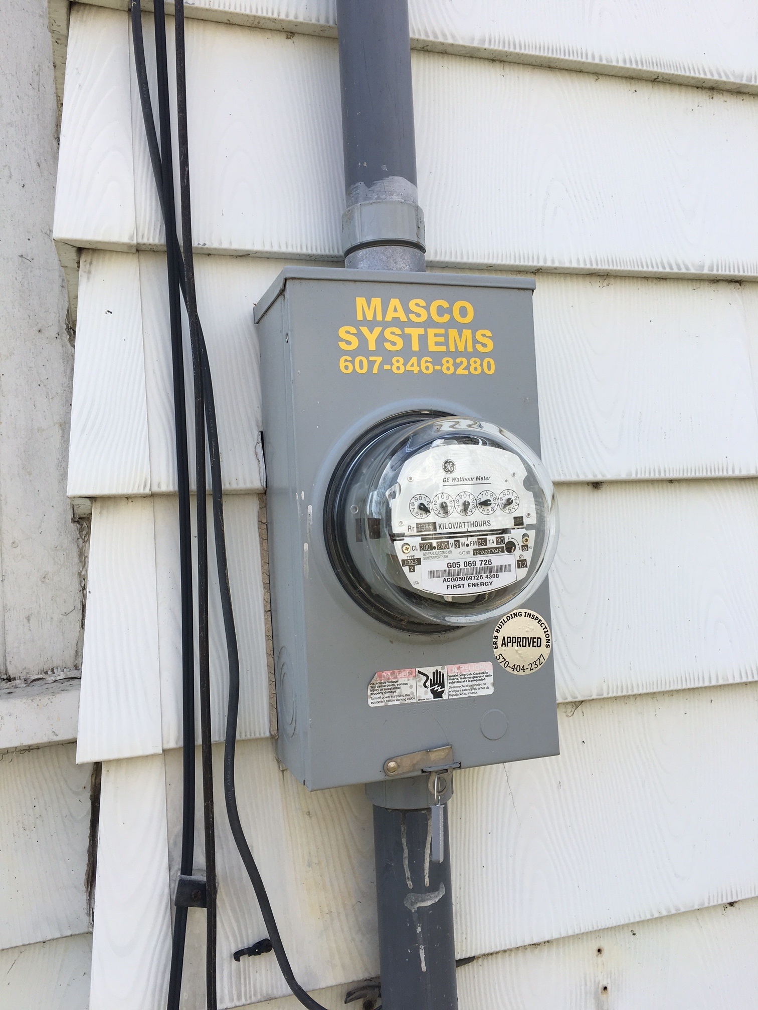 Here's a photo of an analog meter.