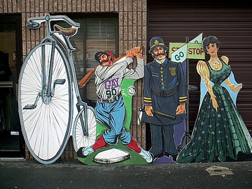 1890's Cutouts-4 different pieces that are about 6 to 8' tall each. Foamcore