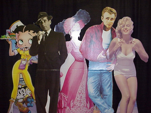 Hollywood Cardboard Stand ups: Small choice of famous actors and actresses.