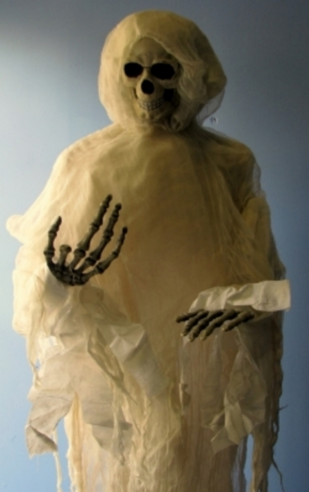 Cloth Ghost:  6 Foot tall cloth ghost, free standing.